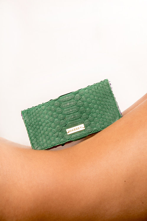 Green - Purple Large Card Holder