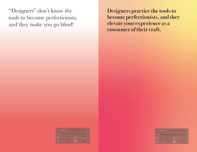 A project to highlight the differences between the trained and the untrained designers