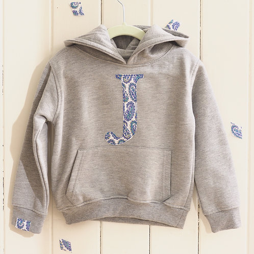 Initial Hoodie with Two Letters or Numbers