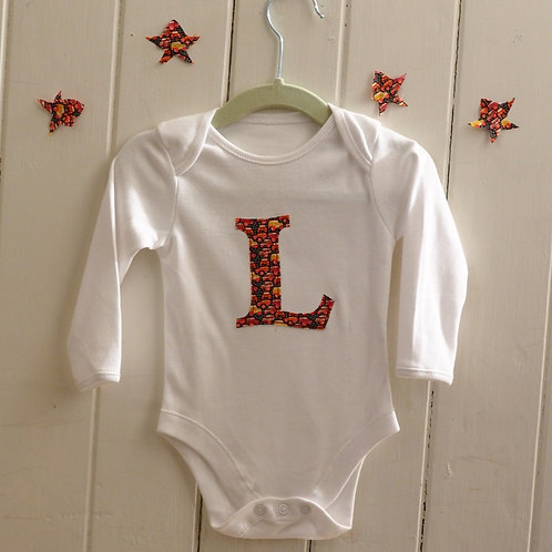 Initial Body Suit Long Sleeved
