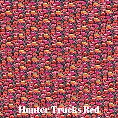 Hunter Trucks Red  Liberty Print Tana Lawn Cotton