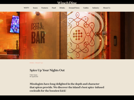 In The Media: Spice Up Your Nights Out - Wine&Dine