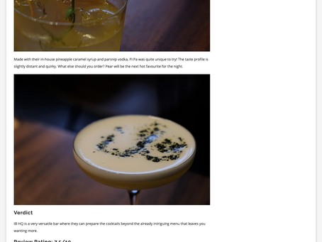 In The Media: Bar review: This IB HQ is actually a hidden bar in Singapore - Asia Style Asia