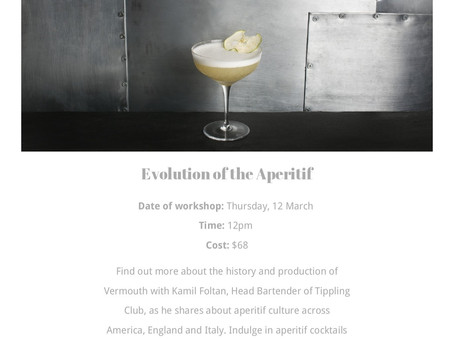 In The Media: Events Workshops Perfect Your Craft - Singapore Cocktail Week