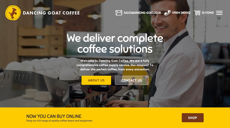 Dancing Goat Coffee Website (2017)