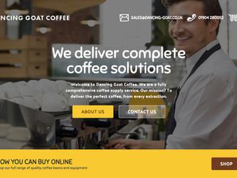 Launching Dancing Goat Coffee's new website