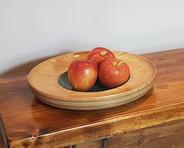 Oak fruit or serving bowl