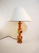 Yew Wood reverse goblet lamp