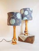 Pair of Yew lamps