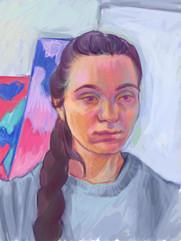 A selfportrait at Studioname, 2020