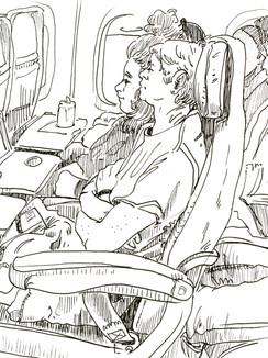 Passengers on the plane to Alaska, 2019