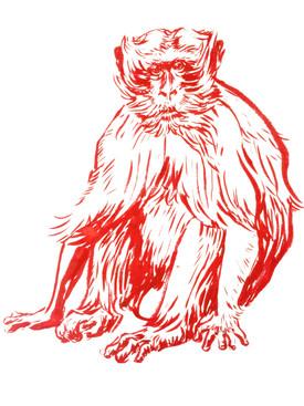 Macaque in ink, 2017