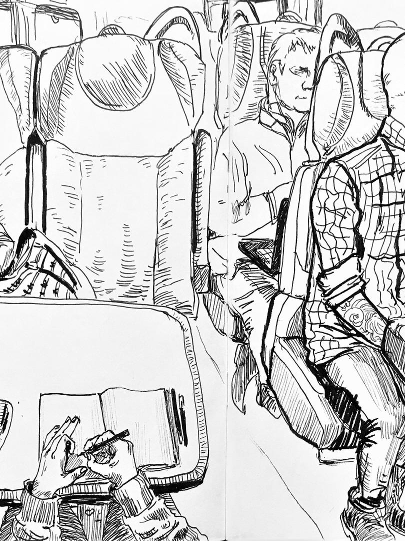 Train journey, 2019
