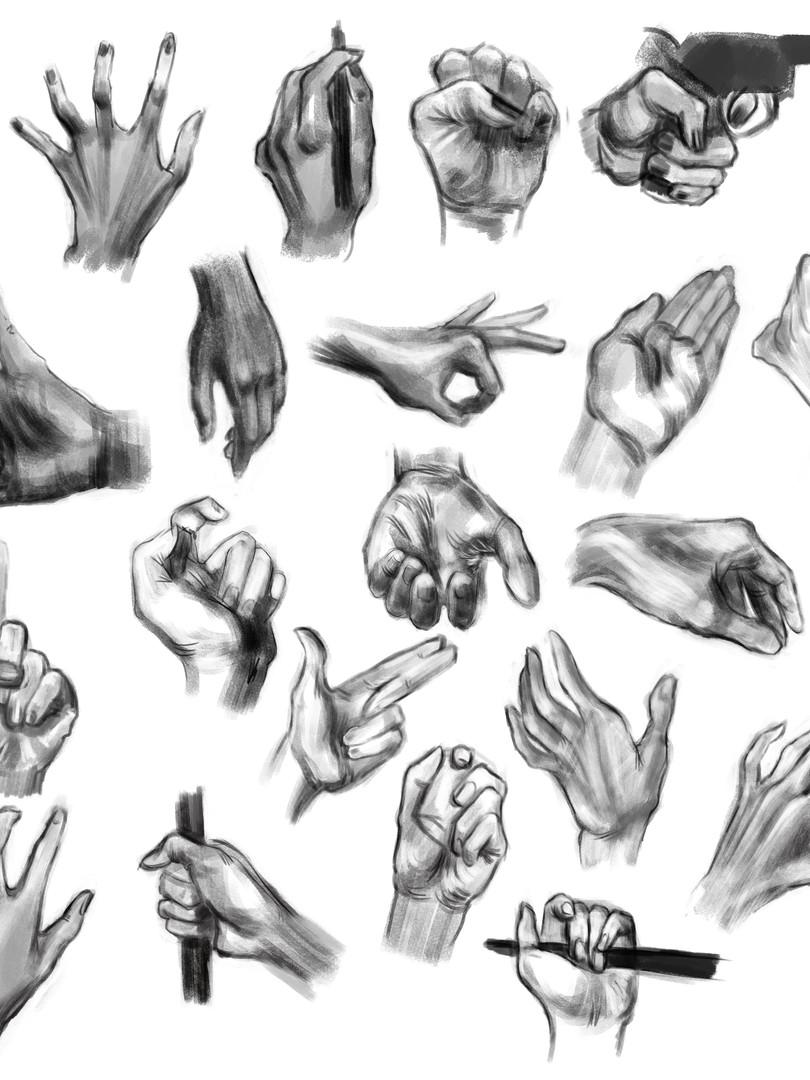 hand studies 2, 2018