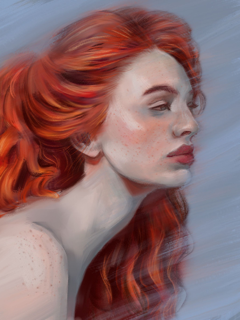 red hair in motion, 2017