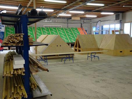 Een nieuwe opleidingsruimte voor de opleiding dakdekken