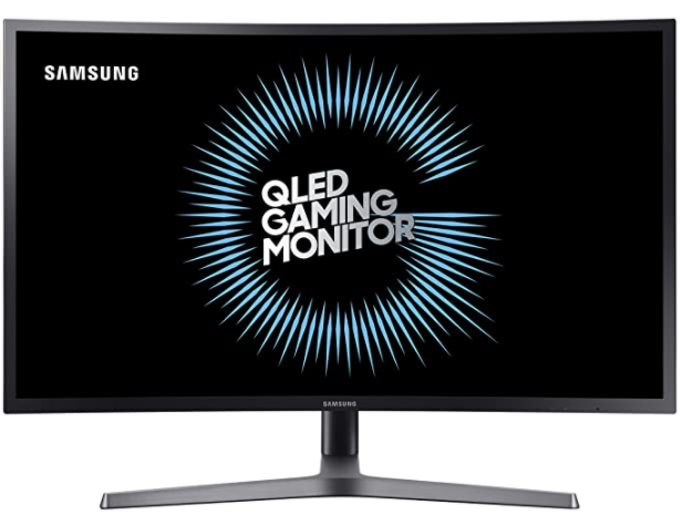"""Samsung C27HG70 27"""" HDR QLED 144Hz 1ms Curved Gaming Monitor with FreeSync (C27HG70QQN)"""