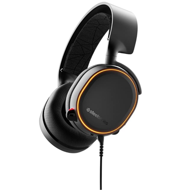 SteelSeries Arctis 5 - RGB Illuminated Gaming Headset with DTS Headphone:X v2.0 Surround - For PC and PlayStation 4 - Black