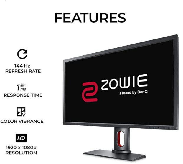 BenQ ZOWIE XL2731 27 inch 144 Hz Gaming Monitor | 1080P 1ms | Black Equalizer & Color Vibrance for Competitive Edge | Height Adjustable Stand |120Hz Compatible for Xbox Series X only
