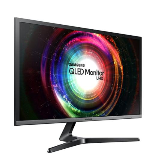 "Samsung UH750 28"" QLED 4K UHD 1ms LED-Lit FreeSync Monitor"