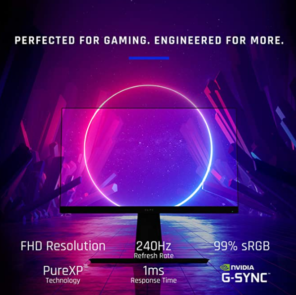 ViewSonic ELITE XG270 27 Inch 1080p 1ms 240Hz IPS G-SYNC Compatible Gaming Monitor with Elite Design Enhancements and Advanced Ergonomics for Esports