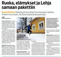 Länsi-Uusimaa 27.1.21 / Hanna Henriksson Lohjan Jhlaserviisi Oy & EK Event