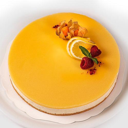 Tuorejuustokakku, esim. sitruuna, passion