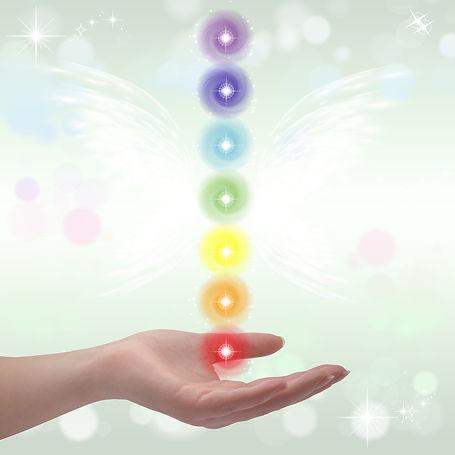 "energy healing clears blocks in the ""human energy fields"" or ""aura"", chakrasandmeridians."
