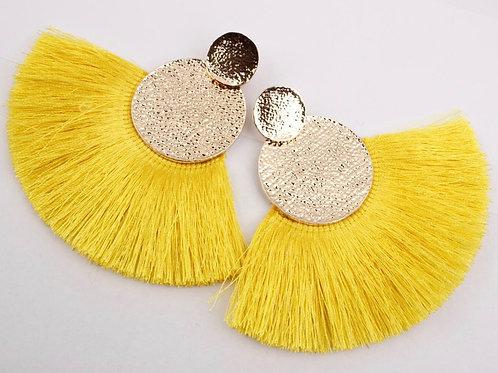 Yellow Fan earrings