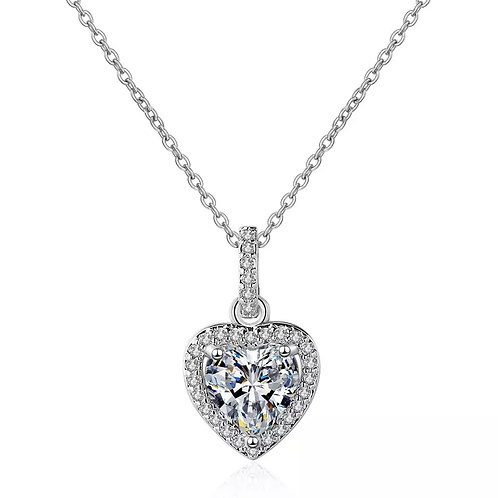 Mini Me - Crystal Heart Pendant