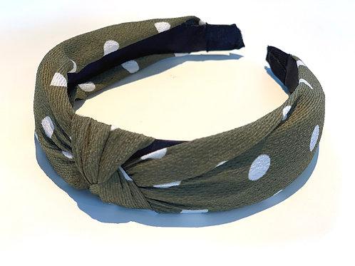 Khaki Spot Headband