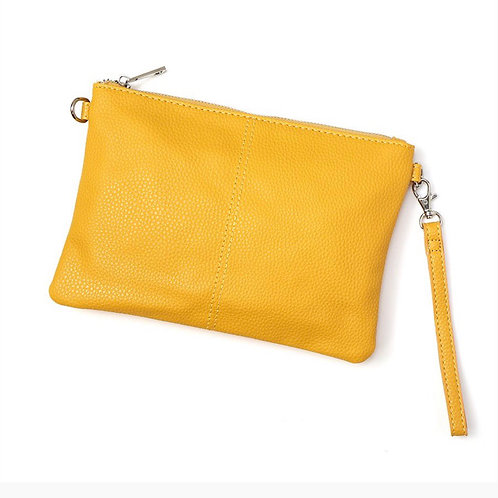 Vegan Leather Mustard Bag