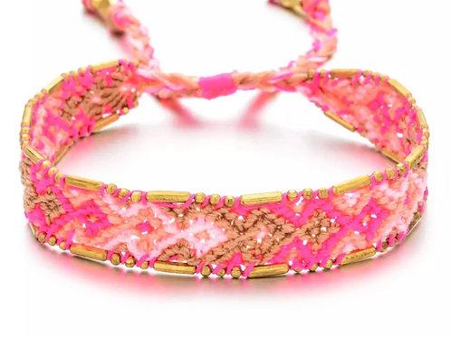 Mini Me - Boho Pink Bracelet
