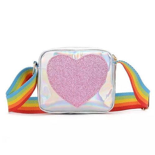Mini Me - Silver Heart Bag