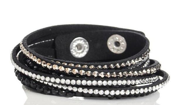 Quiz Black Strap Bracelet