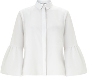 Miss Selfridge Flute Sleeve Poplin Shirt, White £32