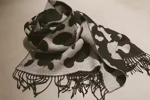 Cow Print Winter Scarf