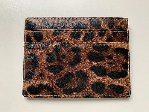 Leopard Oyster Card Holder