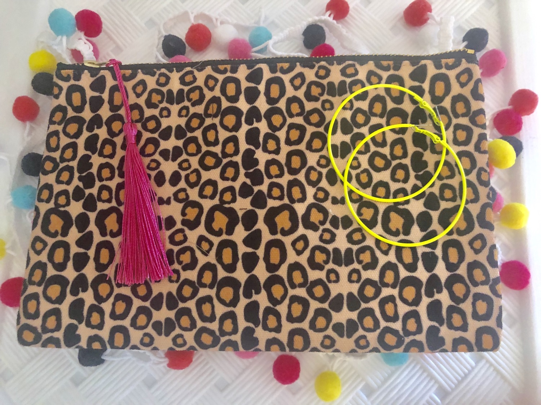 Thumbnail: Leopard Print Zip Clutch