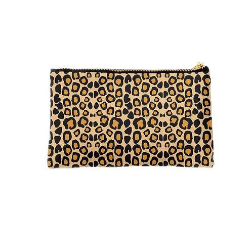 Leopard Print Zip Clutch