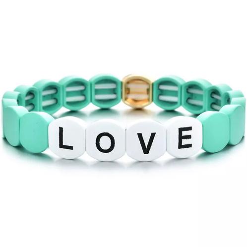 Turquoise Love Tile Bracelet