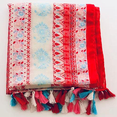 Ethnic Tassel scarf