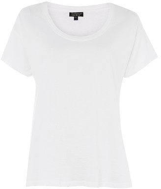Topshop Slub V-Neck T-Shirt