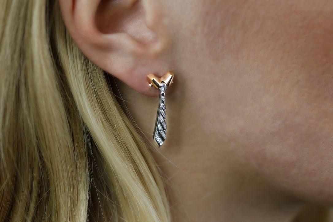 """""""TIE"""" earrings"""