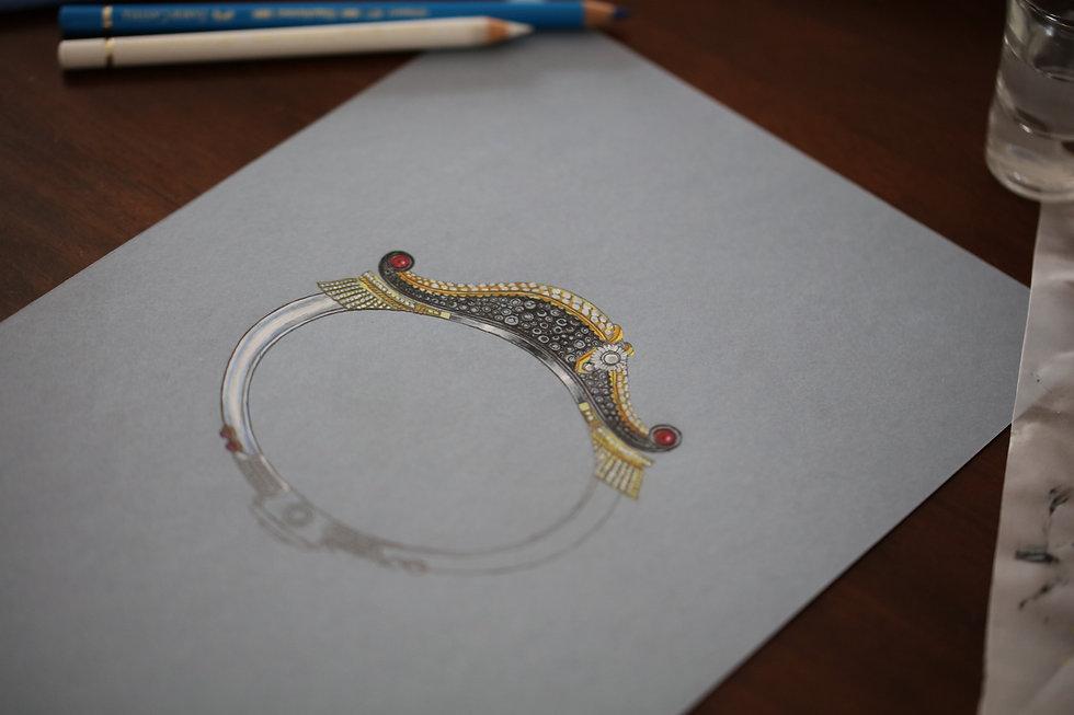 bracelet napoléon esquisse création de E