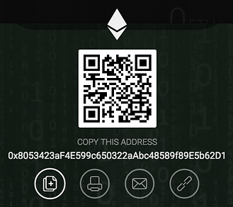 Ethereum Wallet: 0x8053423aF4E599c650322aAbc48589f89E5b62D1
