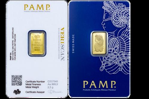2.5 gram Gold Bar