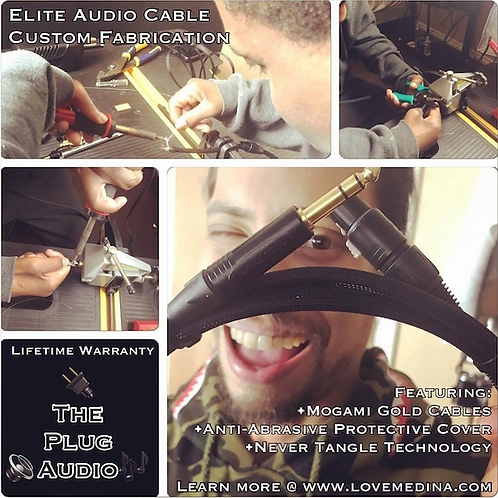 10ft Gold Instrument Cable