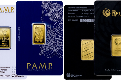 Mint 5 gram .9999 Gold Bar