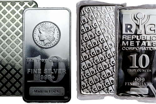 Random Design 10 oz Silver Bar